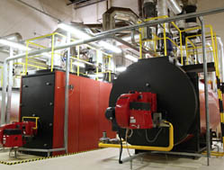 water treamtment boiler room - Culligan